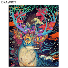 Hot Selling Frameless Pictures Coloring By Numbers Of Deer Wall Decor Home Decor DIY Oil Painting 40*50cm G038(China)