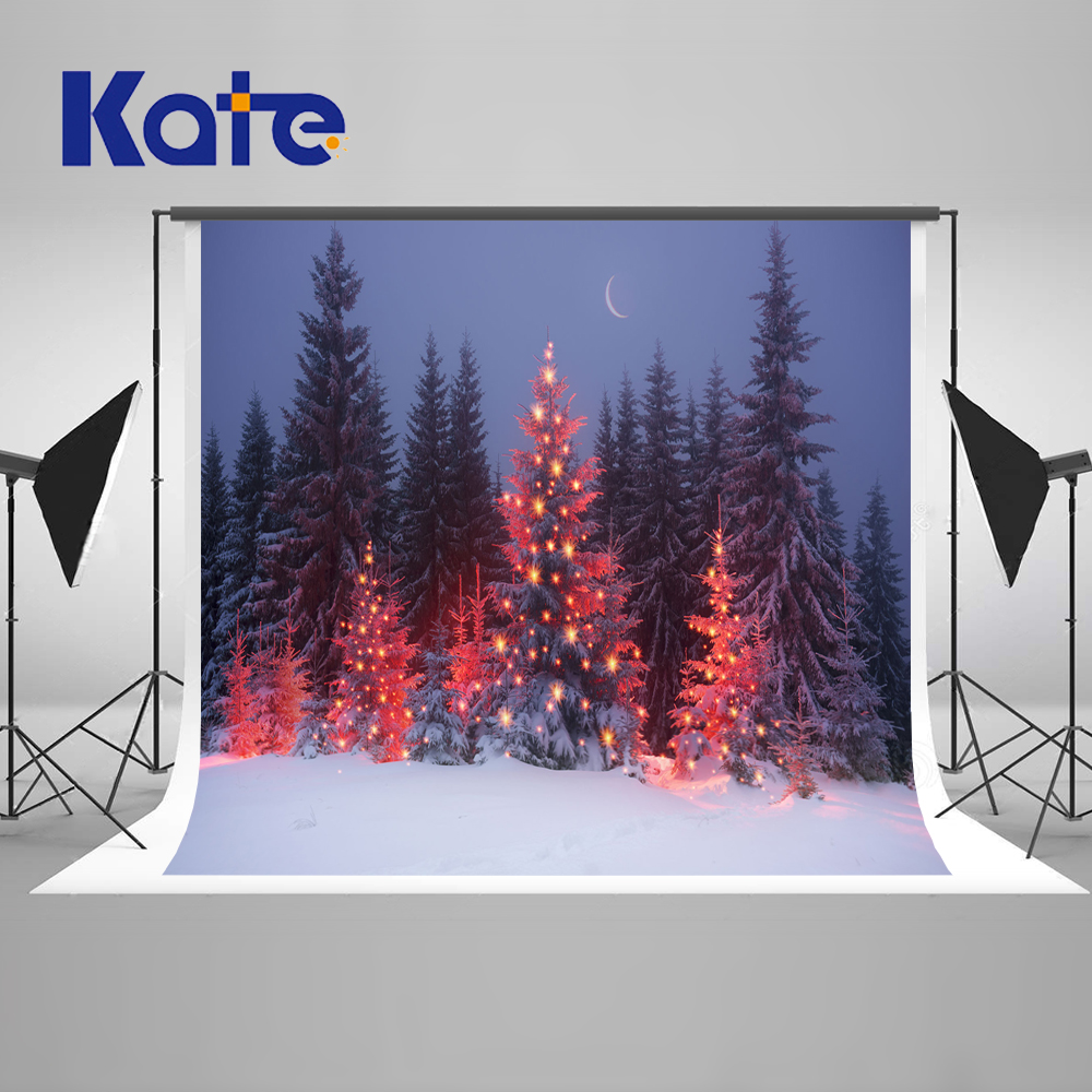 Kate Winter Frozen Backdrop 10x10ft Christmas Trees Photography Backdrops Washable Children Backgrounds For Photo Studio <br>