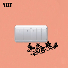 Flower/Butterfly Graphic Fashion Wall Stickers Switch Decorative Vinyl Decals 7SS0709(China)