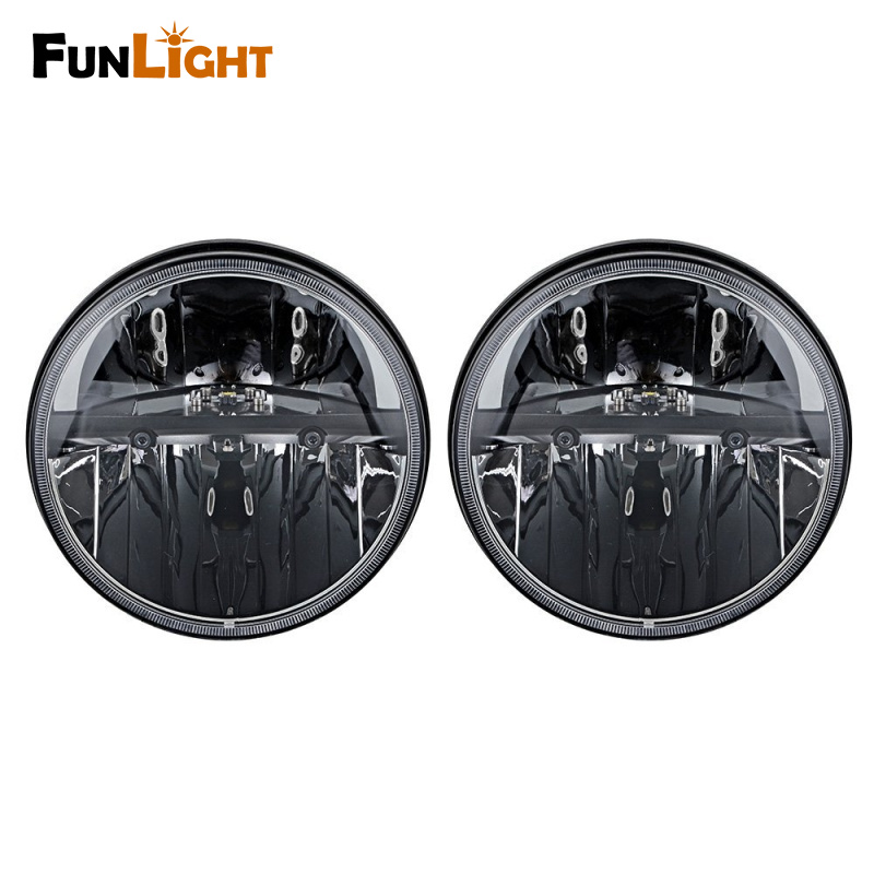 1 Pair 7 Inch Black Round 36W LED Headlights with High Low Beam For Jeep Wrangler JK TJ Hummer H1&amp;H2<br><br>Aliexpress