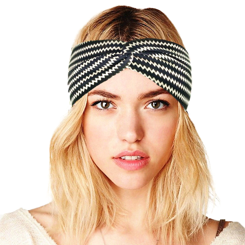Women Elastic Stretch Print headband Hairband Cotton Turban Cap Sport Head Wrap
