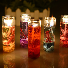 10Pcs/Set New Aromatherapy Smokeless candles Ocean shells jelly Aromatherapy essential oil Wedding romantic scented candles