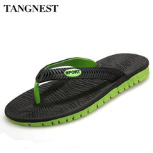 Tangnest Men Summer Flip Flops Male  Mixed Color Slippers Men Casual EVA Shoes Summer Fashion Beach Sandals Size 40~45 XML180