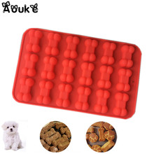 Dog Bone Shape Chocolate Silicone Mold Cookie Biscuits Molds Candy Soap Ice Cubes Mould DIY Fondant Cake Decoration Baking Tools