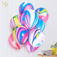 Balloons Painting-Agate Globos Cloud Birthday-Party Balony Colorful 10inch 10pcs -Bal63