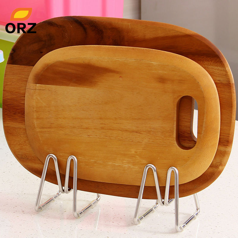 Creative Phone Pad Holder Kitchen Knife Cutting Board Pan Pot Lid Spoon Holder Rack Stainless Steel Storage Rack(China)