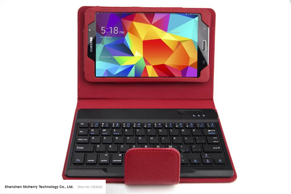 8 4 Removable Wireless Bluetooth Keyboard Leather Stand Protect font b Case b font Cover For