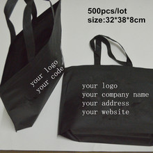 new customer print reusable tote bag black shopping bag for advertise customer made non woven bag lot for wedding package