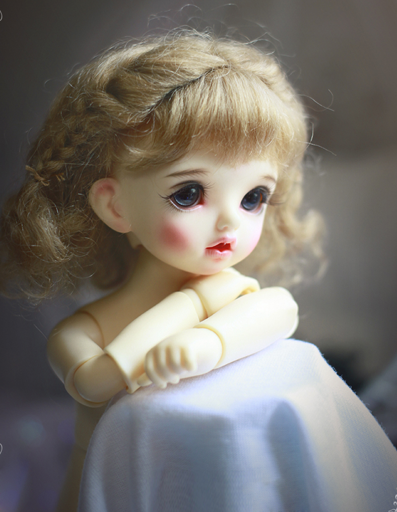 Free Shipping Newest 1/3 8-9Bjd Wig Mohair Short Lovely Curly With Braid Bjd Wig Msd Sd Yosd Imda Hair Wig <br>