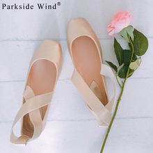 Parkside Wind Sweet Square Toe Girls Flats Sandals Fashion Ballet Flats Shoes Concise Elegant Soft Ballet Size 36-41(China)