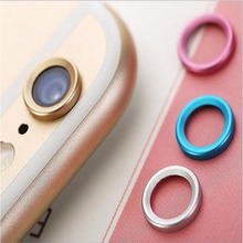 5PCS/Pack Portefeuille Rear Camera Glass Guard Circle Metal Lens Protective Case Cover Ring Bumper for Apple iphone 6 S 6s coque(China)