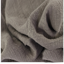 Soft Linen Cotton material brown crincle wrinkle tissue scarves dress double layer linen cotton crepe fabric By meter
