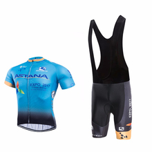SUMMER ASTANA cycling shorts men bike style sport Breathable pro cycling team Ropa Ciclismo short sleeve pro cycling jersey