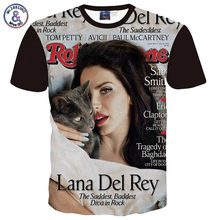 Mr.1991INC Lana Del Rey Printed Men/Women t shirt short sleeve 3d tshirt fashion summer tops famous star graphic t-shirt A2(China)