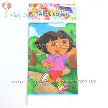 Party supplies 2PCS DORA THE EXPLORER theme party, birthday party decoration disposable table cloth cartoon pattern table cover