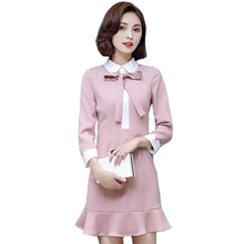 Buy Women Fish Tail Dress Women 2017 New Fashion Spring Long Sleeve Dress Casual Sexy Dress Vestidos Female Dress ZA363 for $24.50 in AliExpress store