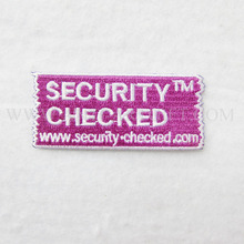 "Custom Embroidery Patches By Your Logo 3"" pink color letter of patch 3"" high quality fast production No MOQ"