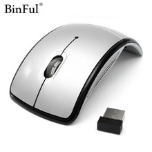 BinFul Foldable 2.4GHz Wireless Mouse for the PC computer mouse Foldable Folding Mouse/Mice + USB 2.0 Receiver for PC Laptop(China)