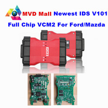 Professional For Ford VCM 2 Full Chip OBD2 Car Diagnostic Scanner VCM II For Ford / Mazda 1996-2016 VCM2 IDS V101 DHL Free Ship