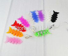 500pcs/lot Fish Bone Earphone Cable Wire Cord Organizer Holder Winder for MP3 Phone Tablet MP4 MP5 Computer Headphone