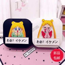 LIUSVENTINA DIY acrylic  cute Sailor Moon and letter contact lens case for eyes contact lenses box for glasses