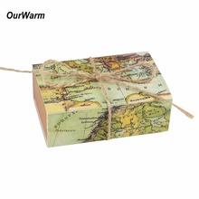 Ourwarm 50pcs Wedding Favors and Gifts Box Paper Candy Box Gift Boxes Bags for Guests Wedding Decorations Festive Party Supplies