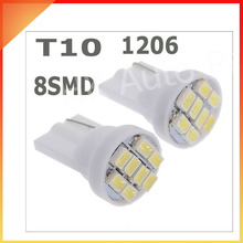 10PCS Ultra Bright White 8SMD LED 3020 T10 W5W Wedge Side Car Light Bulb Lamp