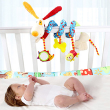 Infant Multifunctional Rattles Bed Stroller Mobile Baby Toys Newborn Cartoon Dog Hanging Grasp Educational Toy Crib Baby Rattle(China)