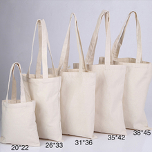 200pcs/lot 12oz cotton Blank plain white eco cotton bag,DIY reusable canvas shopping bag can customiz logo for advertisements(China)