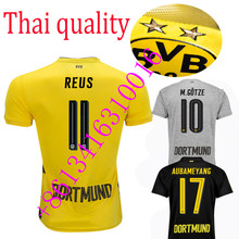 AAA Hot 2017 Dortmundes AAA quality Best Qualit Adult short sleeve Soccer jersey new 17 Home Away 3RD men shirt 2017 2018(China)