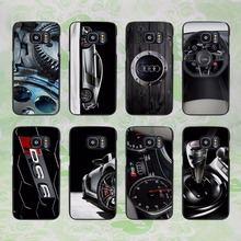 Hot Sale Audi RS4 RS6 RS7 RS8 style hard black Case Cover for Samsung Galaxy S8 S8 plus S7 s6 edge S4 S5 mini