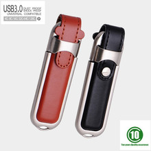 100% real capacity Leather usb 3.0 memory flash stick pen drive 8GB 16GB 32GB 64GB 128GB usb flash drive Pendrive festival gift