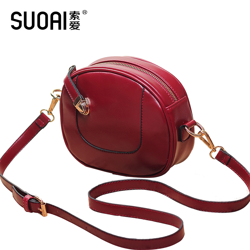 SUOAI 2017 Women Messenger Bags Fashion Summer Style Zipper Hasp  Small Flap Pu Leather Female Casual Shoulder Bags<br>