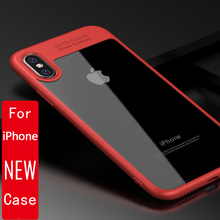 Slim Case for iPhone 7 6 6s plus Transparent PC & TPU Silicone for iPhone Cover Coque for iPhone8 Case for iphone X cover case(China)