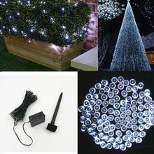 100 LED Outdoor Solar Lamps LED String Lights Fairy Holiday Christmas Party Garlands Solar Garden Waterproof Lights(China)