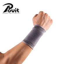 POVIT 1Pcs Wrist Support Weight Lifting Sports Wristband Crossfit Fitness Wrist Wraps For tennis Volleyball Gym Accessories(China)