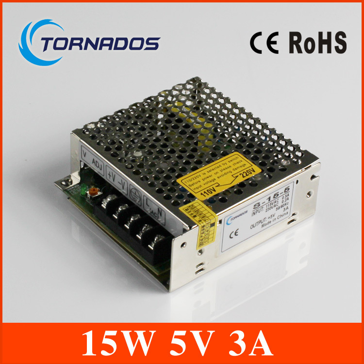 LED switching power supply 15W AC to DC 5V 220V the maximum current   3A model S-15-5 free shipping<br><br>Aliexpress