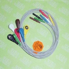 1,5 Din EKG/ECG кабель Holter 7-Lead snap leadwires.(China)