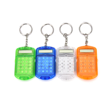 JETTING New High Quality New Hard Plastic Casing 8 Digits Electronic Mini Calculator w Keychain(China)