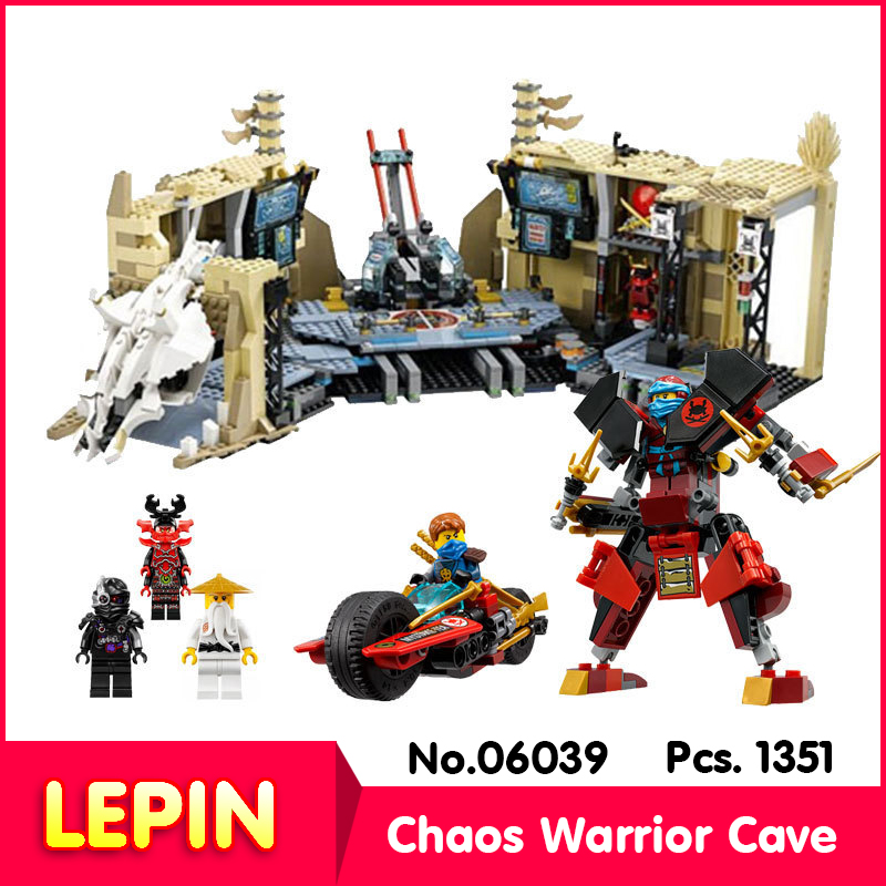 LEPIN 06039 11767Pcs Ninja Series Samurai X Cave Chaos Assemble  Model Building  Blocks Compatible With Legoe 70596<br><br>Aliexpress