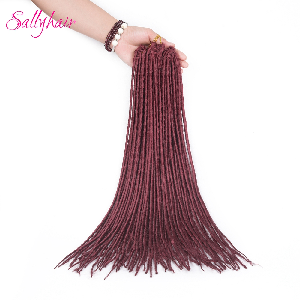 1 pack 24strands dreadlocks Crochet Braids Synthetic Hair Extensions Braiding Hair (3)