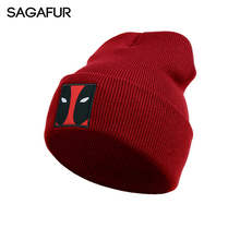 SAGAFUR Hat Female Male Unique Design Knitted Brand New Fashion High Quality Hot Sale 2017 Woman Winter Hats Beanies #MZ6017(China)