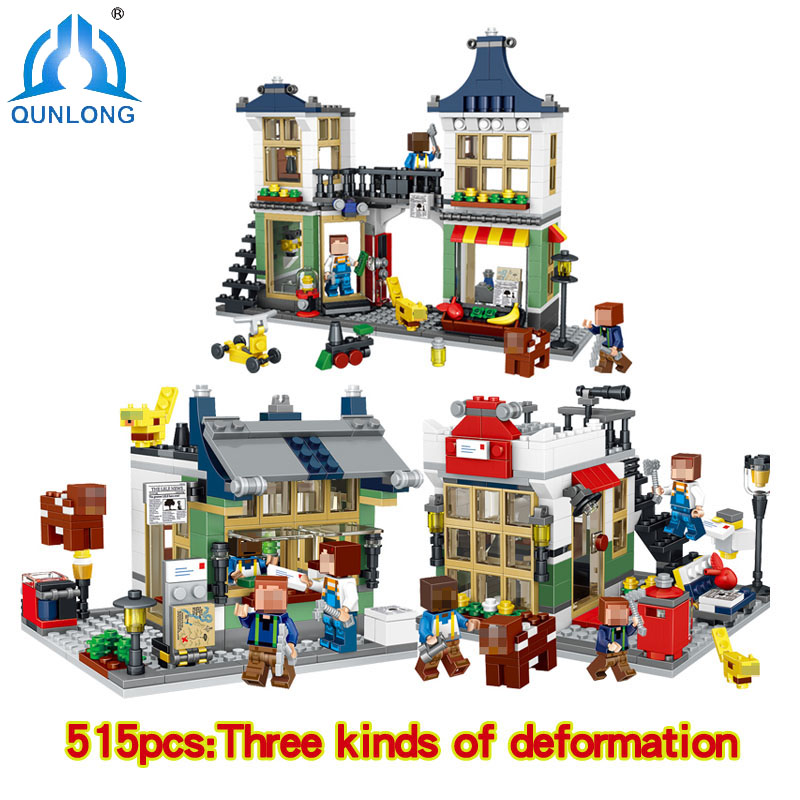 Minecraft Friends Series Creative Store House Building Blocks Girl Toys For Children Compatible Legoe Friends Figures Brinquedos<br>
