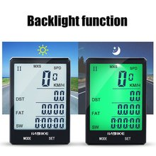 INBIKE Bicycle Computer 2.8 inch Speedometer Large Display Screen Backlight Odometer Cycling Stopwatch Waterproof Outdoor Sport(China)