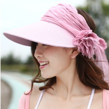 New Sun Hats For Women Fashion Lady Summer Visor Hat Female Beach Cap Prevention Of Ultraviolet & Flower Design Hat(China)