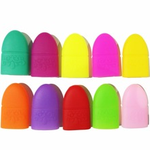 10PCS Nail Art Plastic Gel Nail Polish Remover Soak Off Cap Clip UV Gel Polish Wrap Tool Fluid For Removal of Varnish(China)