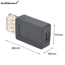 kebidumei 2017 High Speed USB 2.0 AF to Mini 5pin USB Female Adapter Converter Connector high quality wholesale(China)