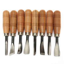 Doersupp 8Pcs Graver Chip Chisel WoodWorking Carving Hand Tools Set Knives Top Quality