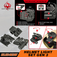 Night Evolution Helmet Light Set Gen 3 Light Helmet Tactical Helmet Clamp NE05003(China)