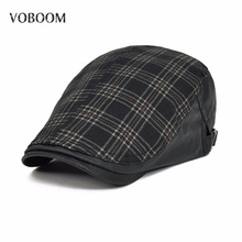 Duckbill Ivy Casual Berets Hats New Unisex Summer Berets Caps For Men Women Adjustable Brand Comfortable Plaid Caps 026(China)